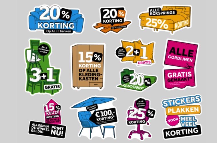 Leen Bakker Stickers Plakken Voor Korting Op Meubels