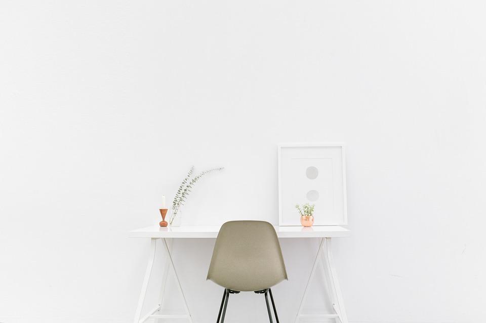 wit bureau minimalistisch