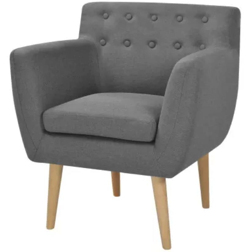 lichtgrijze design stoel bij vidaxl outlet