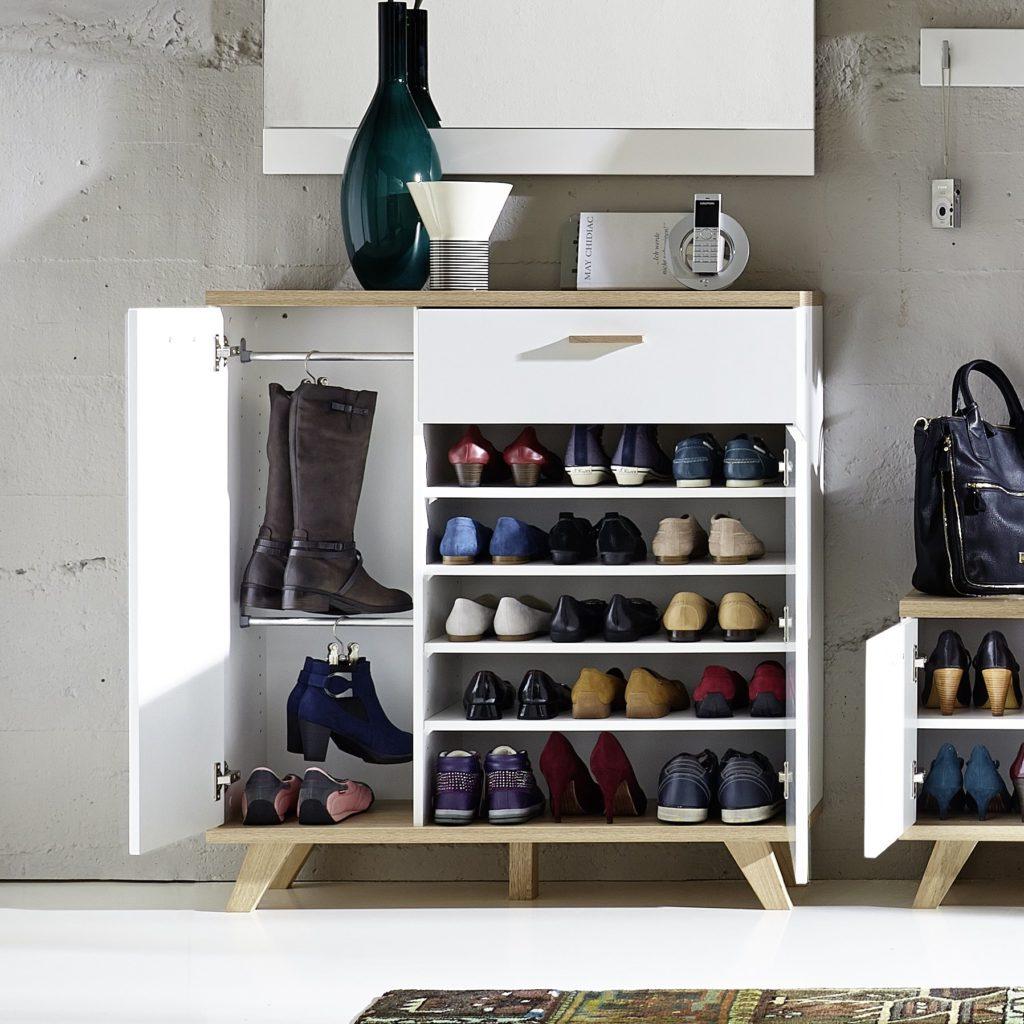 halmeubelkast met schoenen opbergkast