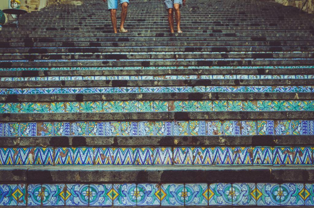 trap caltagirone siciliaans keramiek